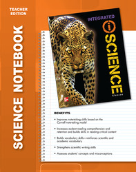 Glencoe Integrated iScience, Course 2, Grade 7, Science Notebook, Teacher Edition