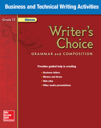 Writer's Choice, Grade 12, Business and Technical Writing Activities