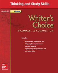 Writer's Choice, Grade 12, Thinking and Study Skills
