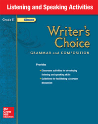 Writer's Choice, Grade 11, Listening and Speaking Activities