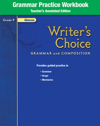 Writer's Choice, Grade 9, Grammar Practice Workbook TAE