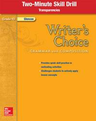 Writer's Choice, Grade 10, Two Minute Skill Drill Transparencies