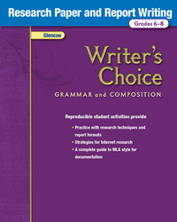 Writer's Choice, Grades 6-8, Research Paper and Report Writing