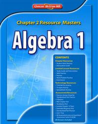 Algebra 2 Chapter 2 Resource Master