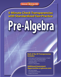 Pre-Algebra, 5-Minute Check Transparencies with Standardized Test Practice