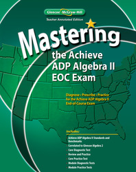 Mastering the Achieve ADP Algebra II EOC Exam, Teacher Edition