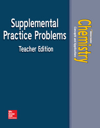 Chemistry: Concepts & Applications, Supplemental Problems, Teacher Edition