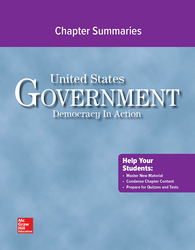 United States Government: Democracy in Action, Chapter Summaries