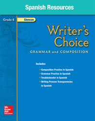 Writer's Choice, Grade 6, Spanish Resources