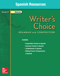 Writer's Choice, Grade 8, Spanish Resources