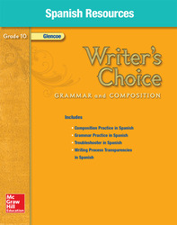 Writer's Choice, Grade 10, Spanish Resources