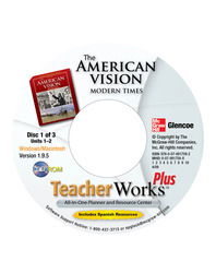 The American Vision: Modern Times, TeacherWorks Plus CD-ROM