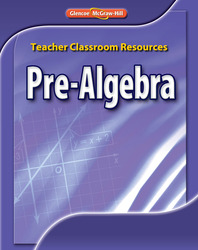 Pre-Algebra, Teacher Classroom Resources