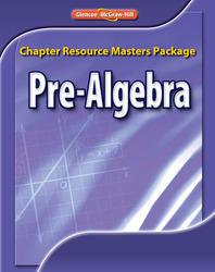 Pre-Algebra, Chapter Resource Masters Package
