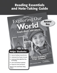 Exploring Our World: Western Hemisphere, Europe, and Russia, Reading Essentials and Note-Taking Guide Answer Key