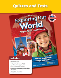 Exploring Our World: Western Hemisphere, Europe, and Russia, Quizzes and Tests
