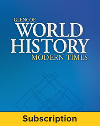 Glencoe World History: Modern Times, StudentWorks Plus Online, 1-Year Subscription