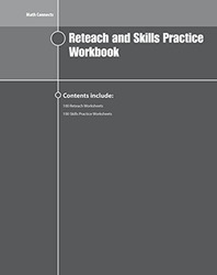 Math Connects Reteach and Skills Practice Workbook, Course 1
