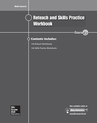 Math Connects Reteach and Skills Practice Workbook, Course 3