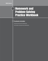 Math Connects, Course 2, Homework and Problem-Solving Workbook