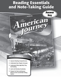 The American Journey, Reading Essentials and Note-Taking Guide, Answer Key