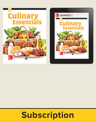 Culinary Essentials Print, Student Edition with Online, 1-year subscription