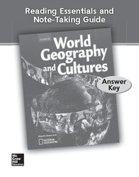 World Geography and Cultures, Reading Essentials and Note-Taking Guide, Answer Key