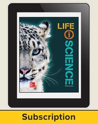 Glencoe Life iScience, Grade 7, eStudent Edition, 1-year subscription