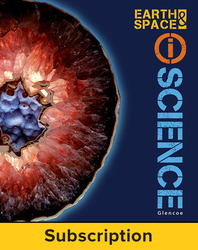 Glencoe Earth & Space iScience, Grade 6, eStudent Edition, 1-year subscription