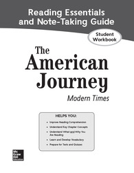 The American Journey: Modern Times, Reading Essentials and Note-Taking Guide, Student Workbook