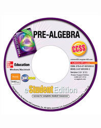 Pre-Algebra eStudentEdition CD-ROM