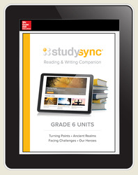 StudySync ELA Grade 6, Student/R&W and 2 Novels Bundle, 6 year