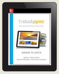 StudySync ELA Grade 10, Student/R&W and 2 Novels Bundle, 6 year