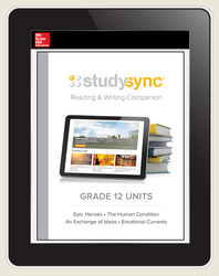 StudySync ELA Grade 12, Student/R&W and 2 Novels Bundle, 6 years