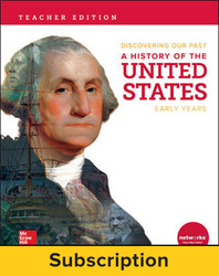 Discovering Our Past: A History of the United States-Early Years, Teacher Lesson Center, 7-year subscription