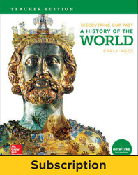 Discovering Our Past: A History of the World-Early Ages, Teacher Lesson Center, 7-year subscription