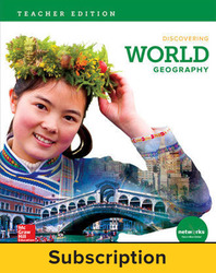 Discovering World Geography, Teacher Lesson Center, 7-year subscription