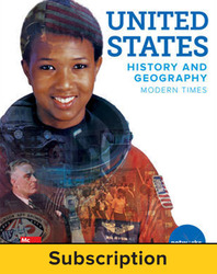United States History and Geography: Modern Times, Student Learning Center, 7-year subscription