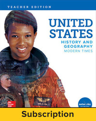 United States History and Geography: Modern Times, Teacher Lesson Center, 7-year subscription