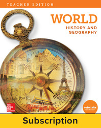 World History and Geography, Teacher Lesson Center, 7-year subscription