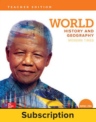 World History and Geography: Modern Times, Teacher Lesson Center, 7-year subscription