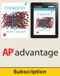 Chang, Chemistry, 2016, 12e, Student AP advantage Bundle (Student Edition with ONboard(v2), Connect, SCOREboard(v2)), 1-year subscription