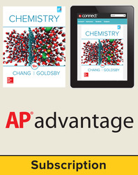 Chang, Chemistry © 2016, 12e, Student AP advantage Bundle (Student Edition with ONboard(v2), Connect®, SCOREboard(v2)), 6-year subscription
