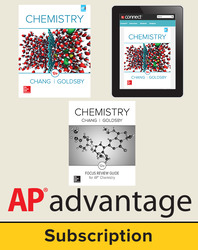 Chang, Chemistry © 2016, 12e, Student AP advantage Bundle with AP Focus Review Guide (Student Edition with AP Focus Review Guide, ONboard(v2), Connect®, SCOREboard(v2)), 6-year subscription
