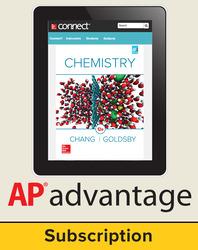Chang, Chemistry © 2016, 12e, Student AP advantage Digital Bundle (ONboard(v2), Connect®, SCOREboard(v2)), 1-year subscription