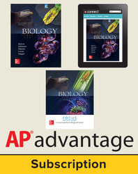 Raven, Biology © 2017, 11e (AP Edition) Student AP advantage Bundle with AP Focus (Student Edition with AP Focus Review Guide, ONboard™(v2), Connect®, SCOREboard™(v2)), 6-year subscription