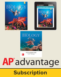 Mader, Biology © 2016, 12e (Reinforced Binding) Student AP advantage Bundle with AP Focus Review Guide(Student Edition with AP Focus Review Guide, ONboard™(v2), Connect®, SCOREboard™(v2)), 6-year subscription