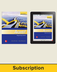 Aski, Avanti!, Introductory Italian © 2018, 4e, Student Bundle (Student Edition with ConnectED eBook), 1-year subscription