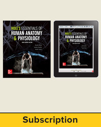 Shier, Hole's Essentials of Human Anatomy and Physiology, High School Ed © 2018, 1e Student Bundle (Student Edition with ConnectED eBook), 1-year subscription