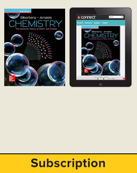 Silberberg, Chemistry: The Molecular Nature of Matter and Change © 2018, 8e (Reinforced Binding) Standard Student Bundle (Student Edition with Connect®), 1-year subscription